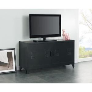 meuble tele metal achat vente meuble tele metal pas cher cdiscount. Black Bedroom Furniture Sets. Home Design Ideas