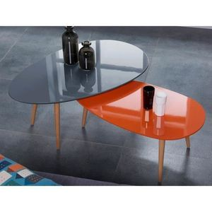 Table basse orange achat vente table basse orange pas for Table basse orange