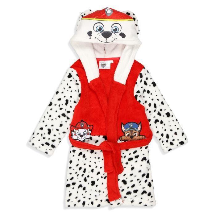 Pat Patrouille Robe De Chambre Coral Garcon 100 Polyester Rouge Achat Vente Pyjama Cdiscount
