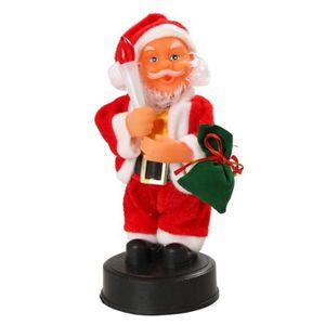 AUTOMATE ET PERSONNAGES Automate Père Noël avec bougie - H 20 cm - Pile