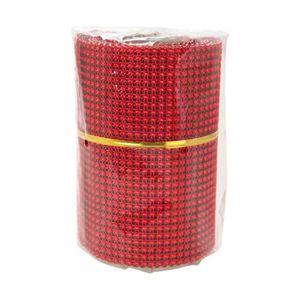 OBJET DÉCORATIF Chemin de table perle 8x2 m rouge