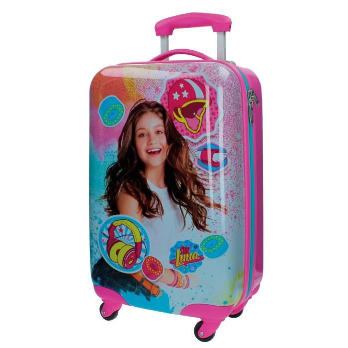 amazing valise bagage soy luna disney valise cabine rigide abs roues with coussin secret soy. Black Bedroom Furniture Sets. Home Design Ideas