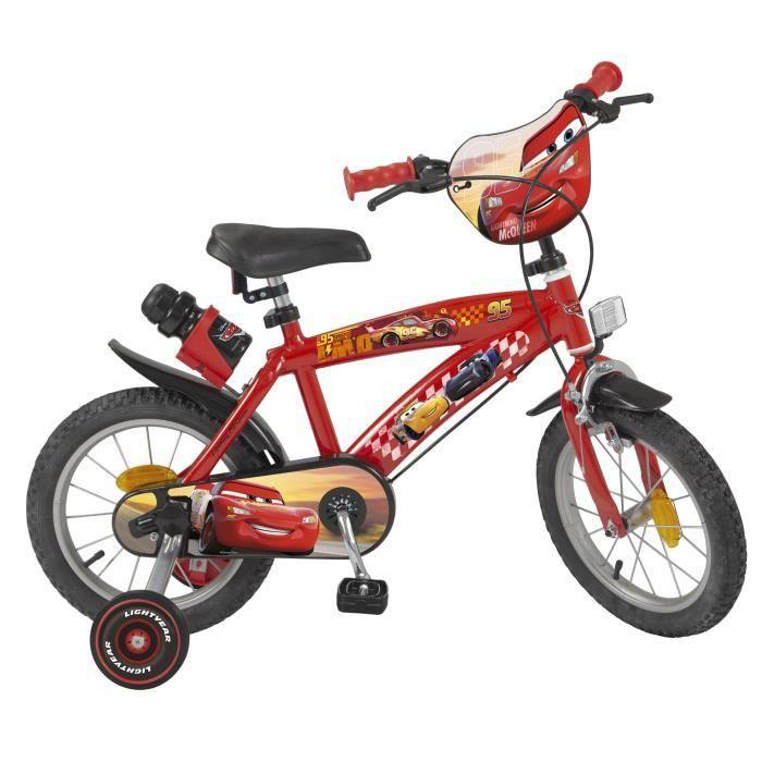 """VÉLO ENFANT CARS Vélo Enfant - 14"""" -4/7 ans- Rouge"""