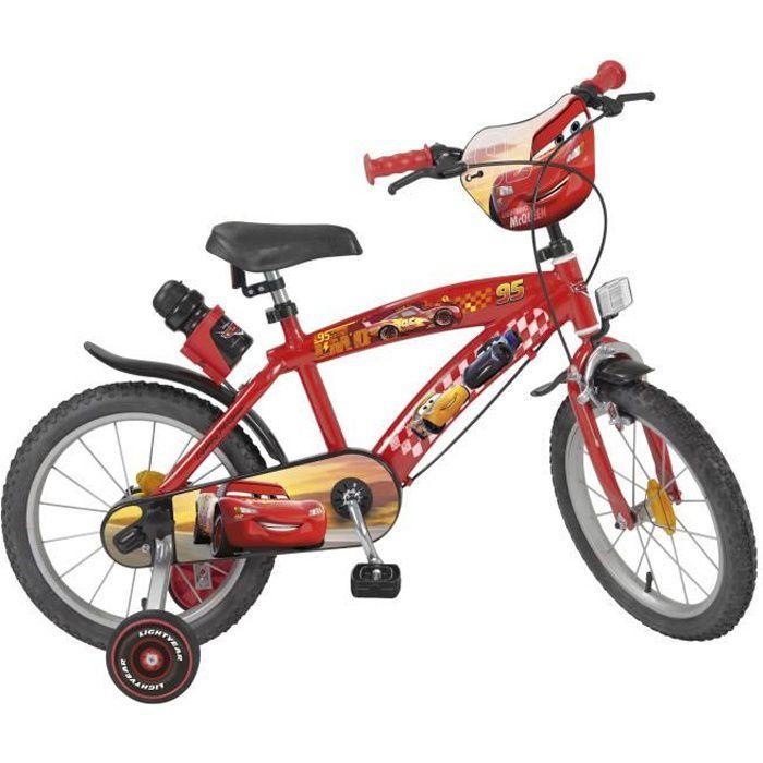 """VÉLO ENFANT CARS Vélo Enfant - 16"""" -5/8 ans- Rouge"""