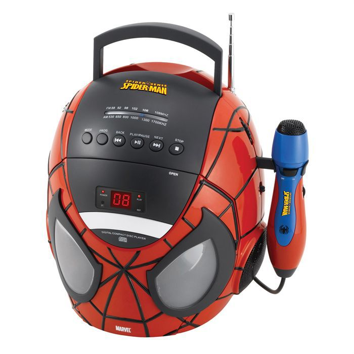 lecteur cd karaoke spiderman achat vente radio cd enfant cdiscount. Black Bedroom Furniture Sets. Home Design Ideas