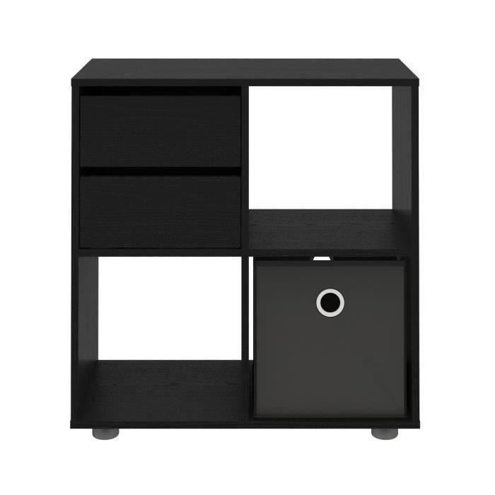 biblioth que etag re cube noir achat vente. Black Bedroom Furniture Sets. Home Design Ideas