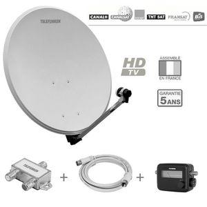 PARABOLE TELEFUNKEN T-S601TV Antenne extérieure pack récept