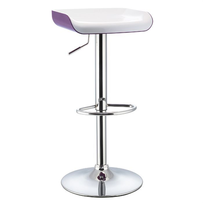 tabouret de bar blanc violet assise abs achat. Black Bedroom Furniture Sets. Home Design Ideas