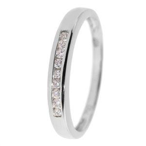 ALLIANCE - SOLITAIRE MONTE CARLO STAR Alliance Or Blanc 750° et Diamant