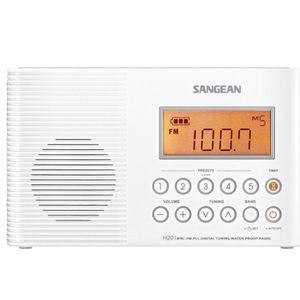 Radio réveil SANGEAN - H-201 - Radio portable étanche pour sall