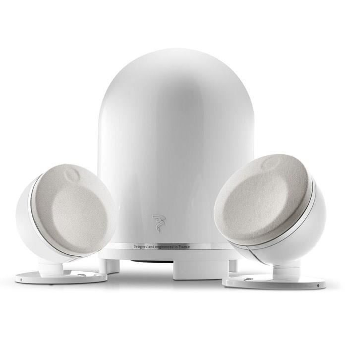 Focal dome 2 1 home cin ma hifi blanc ensemble home cin ma avis et prix pa - Home cinema 2 1 blanc ...