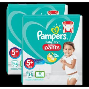 COUCHE Couches Pampers Baby-Dry Pants Géant Taille 5+ x34