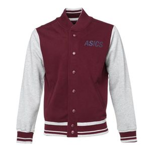 ASICS Veste en sweat College Homme - Bordeaux et blanc