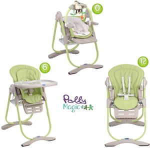CHAISE HAUTE CHICCO Chaise Haute 3 En 1 Polly Magic Wasabi