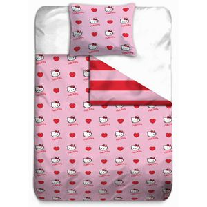 Hello kitty housse de couette taie coeur rouge achat - Hello kitty housse de couette ...