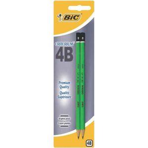 CRAYON GRAPHITE Bic - Criterium 550 - Blister de 2 Crayons Graphit