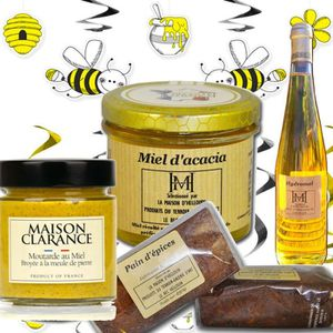 COFFRET CADEAU ÉPICERIE panier gourmand : le miel