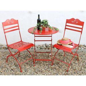 SALON DE JARDIN  DanDiBo Table + 2 chaises Passion Ensemble de meub