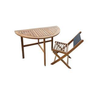 SALON DE JARDIN  Ensemble table 2 personnes et 2 chaises Noumea en