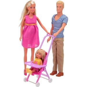 POUPÉE SIMBA Steffi Love Famille Heureuse + Accessoires
