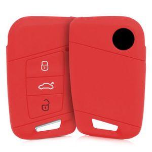 Coque pour Clef de Voiture BMW 4-Bouton en Silicone Noir /Étui de Protection Souple kwmobile Accessoire cl/é de Voiture pour BMW