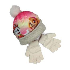 BONNET - CAGOULE Ensemble bonnet pompon + gants La Pat Patrouille E