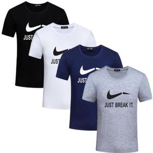 T-SHIRT Lot de 4 Mode Tee Shirt Homme Imprimé Col Arrondi