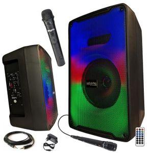 MICRO - KARAOKÉ 2 MICROS KARAOKE ENCEINTE SONO + USB MP3 BLUETOOTH
