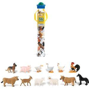 FIGURINE - PERSONNAGE Animaux de la ferme - Tube de 12 figurines