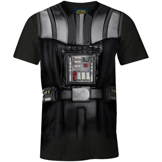 T Shirt Adulte Star Wars Dark Vador Costume Blancnoir