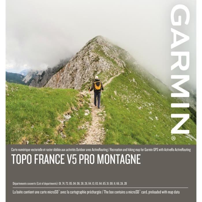 GARMIN Carte Topo France V5 Montagne Pro