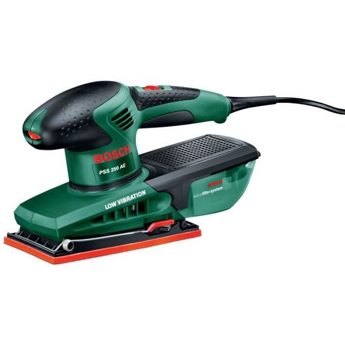 PONCEUSE - POLISSEUSE BOSCH Ponceuse vibrante microfiltre PSS 250 AE