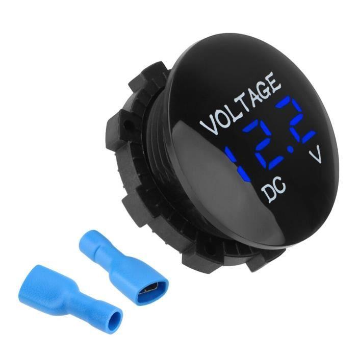Mini voltmètre numérique, Ammete DC 12V-24V, affichage Led pour voiture, testeur de tension de moto [3BB53A0]