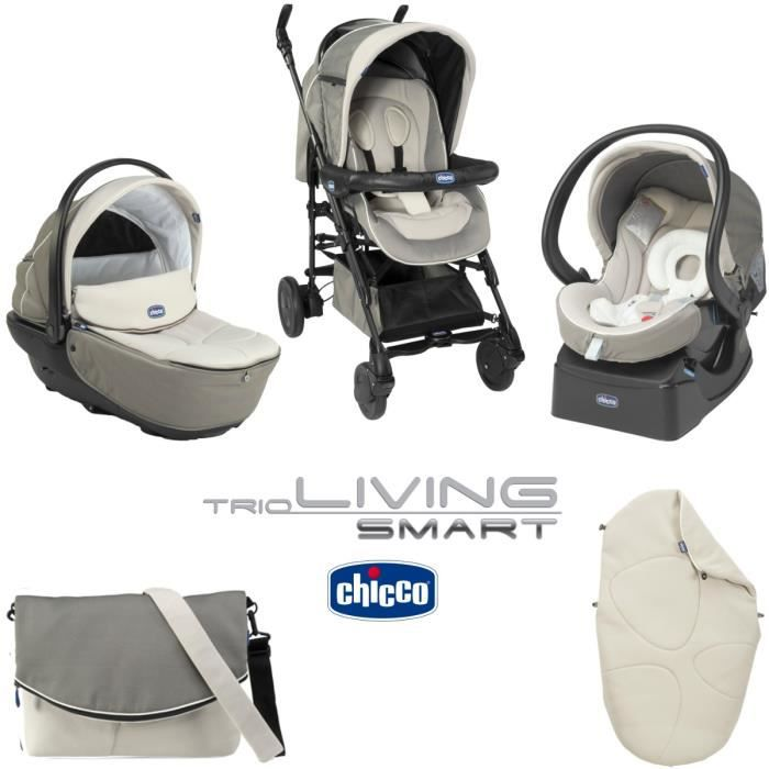 Chicco Trio Living Smart Chick To Chick Poussette Combinée Chick To