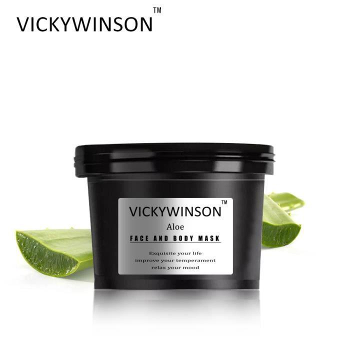 Crème exfoliante à l'aloès 50g Massage du corps du visage Aloe vera Élimination de l'acné Pockmark Blanchissant Crème hydratante Emu