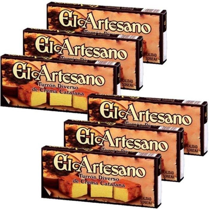 Lot 6x Touron Massepain crème catalane - 200g