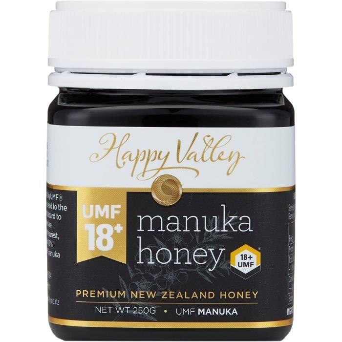 Le miel de Manuka, Happy Valley UMF 18+ (MGO 696+), Manuka Honey, 250g