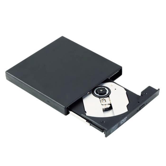 Lecteur Portable USB 2.0 DVD CD DVD +--RW CD +-- RW-CD-RW-DVD-R-DVD ROM Player Pour Mac-OS-XP-Vista-Linux-Win7-Win8