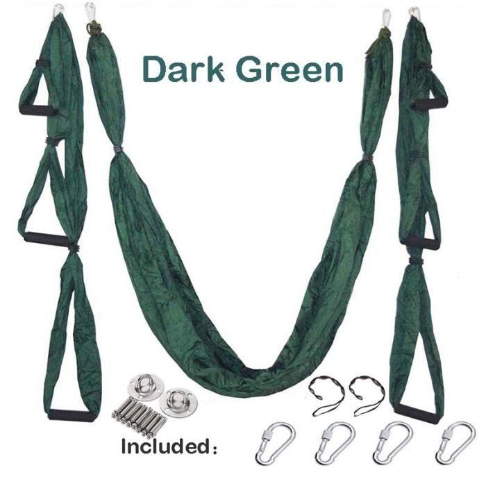 Accessoires Fitness - Musculation,Yoga hamac gymnastique force Inversion Anti gravité Traction aérienne - Type Dark green