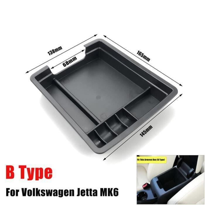 B type -Boîte de rangement d'accoudoir d'automobile, boîte de rangement pour Volkswagen Jetta MK6 2012 – 2018 Console centrale, orga