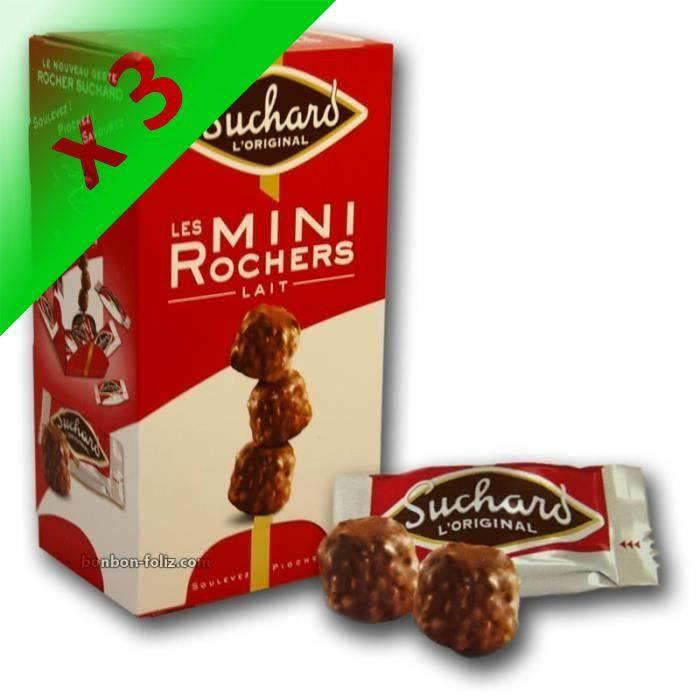 [LOT DE 3] SUCHARD Chocolat Mini Rocher Lait - 192 g