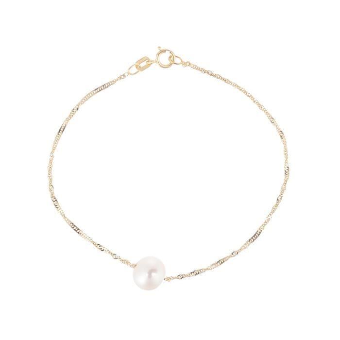 PERLINEA Bracelet Perles de Culture et Or Jaune 375° Femme