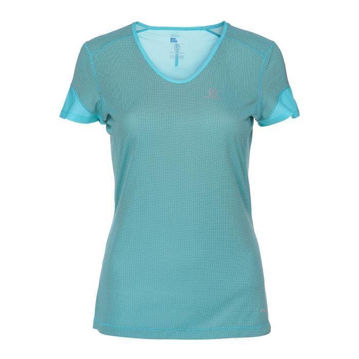 SALOMON T-shirt de running - Femme - Jaune