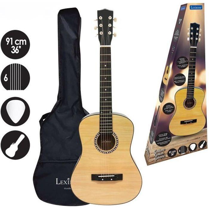 Guitare acoustique LEXIBOOK en bois - 91 cm