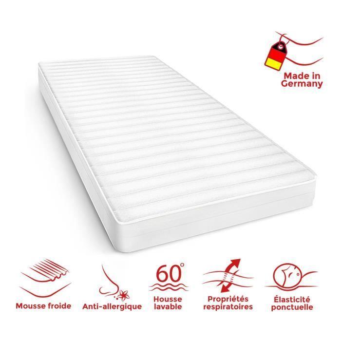 Matelas 90x200 cm matelas ferme confortable housse lavable pas cher anti-acarien matelas sommeil réparateur, épaisseur 15 cm