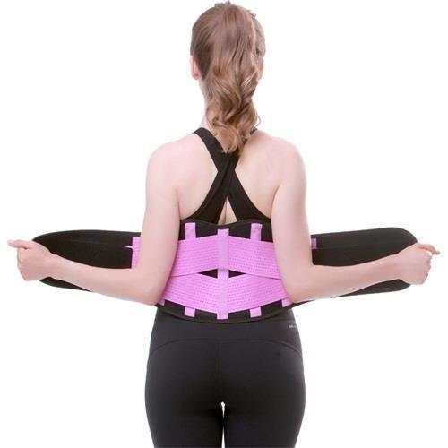 CEINTURE - BOUCLE DE CEINTURE,Femmes hommes taille formateur ceinture dos orthèse pour la douleur au bas du dos - Type VIOLET-S