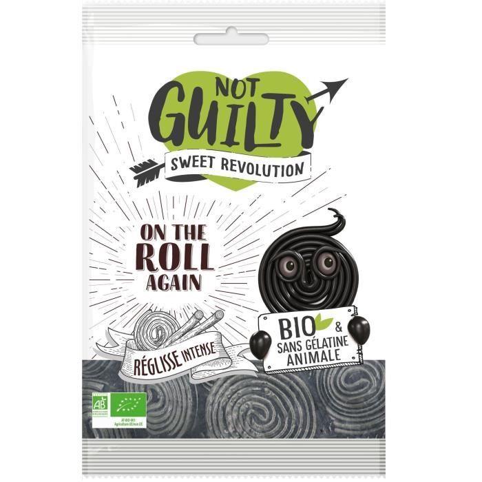NOT GUILTY Bonbons à la Réglisse Sachet de On the Roll Again Réglisse - BIO - 90 g