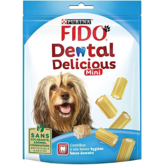 FIDO Os à mâcher Dental Delicious Mini - Pour chien - 130 g