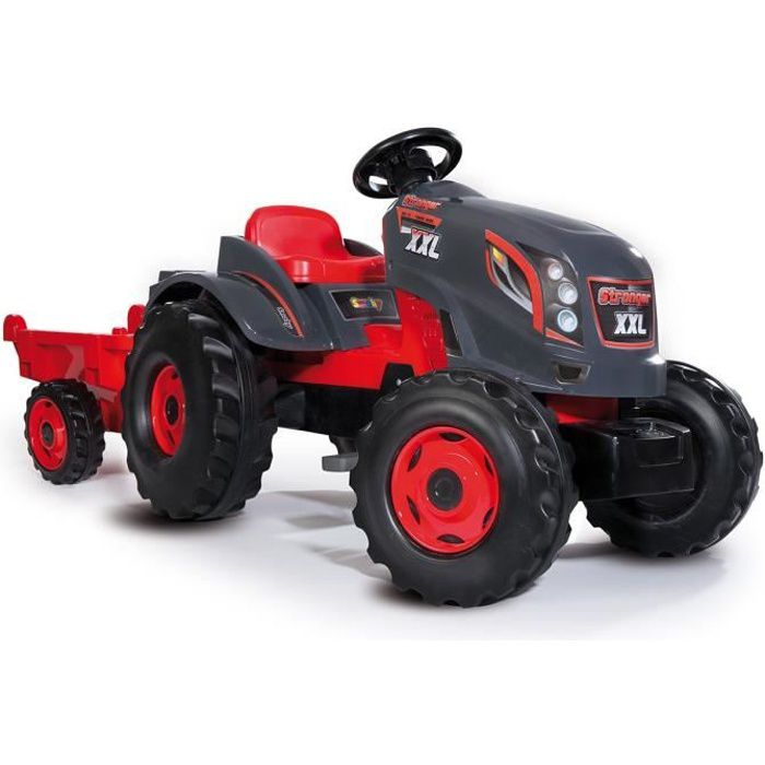 SMOBY Tracteur à pédales Stronger XXL + Remorque