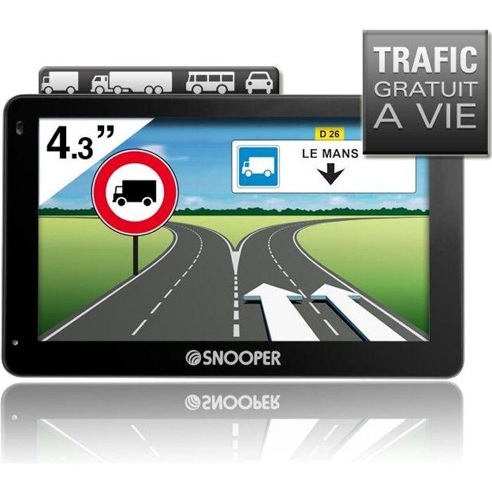 SNOOP PL2200, GPS Poids-lourds 4,3-, 46 pays - Cartes & Trafic gratuits à vie